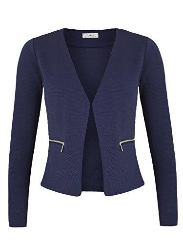Damen Blazer mit Taschen (382), Farbe:Dunkelblau, Kostüme & Blazer für Damen:36 / S