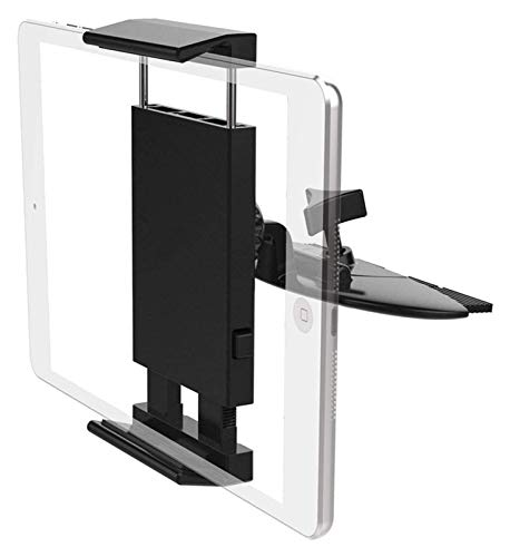 ZJSXIA Porta Tableta CD de CD 360 para Tableta de 7-11 Pulgadas Tableta Universal CD Tablet Tablet Holder para Coche iPad 9.7, 10.5, iPad Air Mini 2 3 4, iPhone