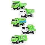 5pcs / set 1:64 Simulación Saneamiento de la Ciudad de camiones aleación de metal fundido a troquel y del juguete Malo Vehículo Brithday regalo for los niños Boy Y030 ( Color : Sanitation Vehicle )