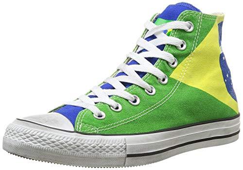 Converse Ctas Union Jack 135504C, Sneaker Unisex adulto, Brasil Flag Stone Washed, 36.5