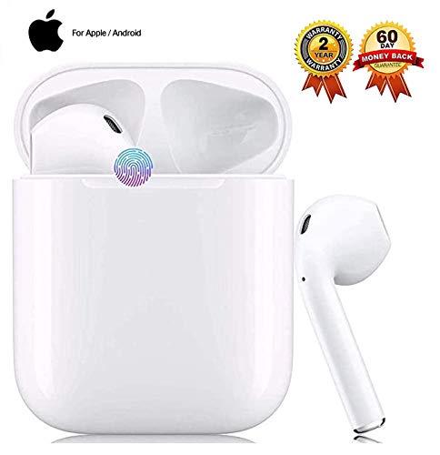 Bluetooth-Kopfhörer5.0, Kabellose Kopfhörerr IPX7 wasserdichte, Noise-Cancelling-Kopfhörer, Sportkopfhörer, Mit 24H Ladekästchen und Mikrofon für Android/iPhone/Samsung/Apple AirPods Pro
