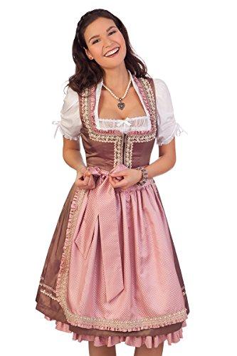 Trachten Mididirndl 2tlg. - CELESTINE - rosé, Größe 36