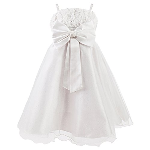 Disney Princesas Vestido de Verano, Color Blanco, 2-3 años (Katara 1716)