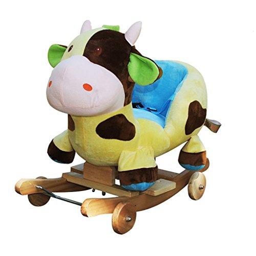 Cheval à bascule Berceaux à bascule simple Assemblée solide chaise berçante en bois pour 1-3 ans bébé enfant jouet cadeau -LI JING SHOP