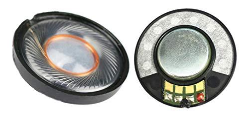 2 Stück 40 mm Lautsprecher-Treiber 32 Ohm Ersatz für Bose Kopfhörer Quitecomfort QC25 QC3 QC2 QC15 AC25 AC3 AE2 OE2 Beats Studio 2 3 Solo 2 Solo 3 EP Headset Kopfhörer-Reparaturteil