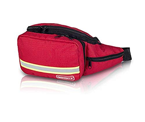 Elite Bags, EMS, Riñonera botiquín de primeros auxilios, Básica, Rojo