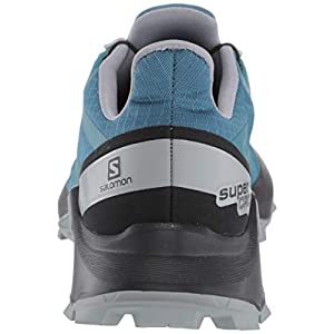 Salomon Women's Supercross Trail Running Shoes, Mallard Blue/Black/Monument, 7.5