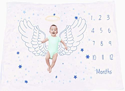 Snuggle Shack Baby - Manta para niños, 152,4 x 101,6 cm, suave de 300 g/m² para siestas, tiempo de barriga y fondo de fotos, bonito recuerdo para recién nacidos