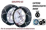 RICAMBIITALIA2017 Set Catene da Neve 9 Millimetri per Auto OMOLOGATE TUV GS - V5117 Gruppo 65