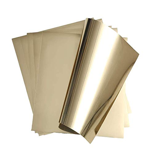 Stretch Metallic Vinyl Iron on Heat Transfer Vinyl Rose Gold Foil Vinyl HTV Sheet for Cricut,T-Shirt Hoody Decoration at Home or Party 12 X 9.8(Pack of 6)