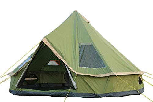 DANCHEL OUTDOOR Backpacking Lightweight Teepee Yurt 5M Large Tent Portable for Adults Family Camping 4000 Pro, 16.4ft