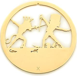 Valerie Atkisson Nutcracker Mouse King and Nutcracker Ballet Christmas Ornament, 24K Gold Plated