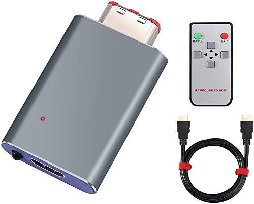 Switch GC Adaptador GC a HDMI 576p Convertidor GC a HDMI Enchufar y Usar con Control Remoto Cable Adaptador HDMI para GCVideo Compatible con Todos Los Juegos de GC
