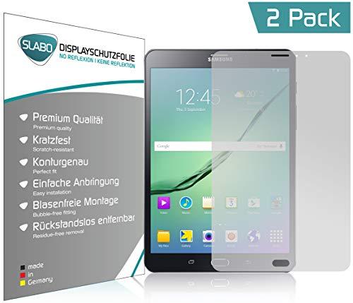 Slabo 2 x Bildschirmschutzfolie kompatibel mit Samsung Galaxy Tab S2 (8 Zoll) MIT TELEFONIE SM-T719 Bildschirmschutz Schutzfolie Folie MATT