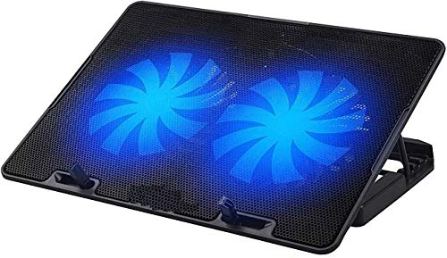 High Trusted® ChillMate Adjustable Laptop Cooling Pad with Twin Fans for Efficient Cooling