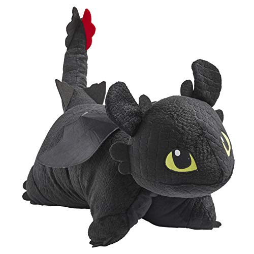 "Pillow Pets How to Train Your Dragon Toothless Plush - NBCUniversal 16"" Stuffed Animal Toy"