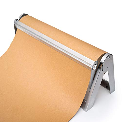 Wrapping Paper Roll Cutter - Holder & Dispenser for Butcher Freezer Craft Paper Rolls 24