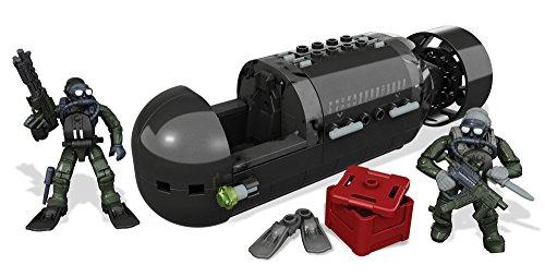 Mega Bloks Call of Duty - Juego de construcción, Submarino Navy Seal (Mattel CNG80)