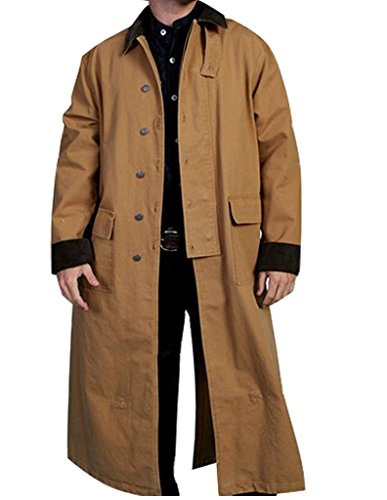 Rangewear By Scully Men's Long Canvas Duster Brown X-Large