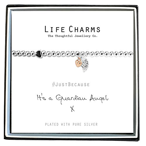 Life Charms Women Jewellery Guardian Angel Bracelet Wristband Ladies Gift