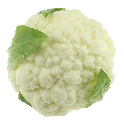 Gresorth PU Fälschung Brokkoli Dekoration Künstlich Gemüse Zuhause Küche abspielen Essen Spielzeug - Weiß