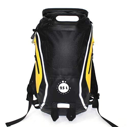Ssszx wandelrugzak, 25 l, grote inhoud, reflecterend, voor wandelen, reizen, van PVC, waterdicht, functioneel, strand, rivier, kaars, droogtas, Blanco Y Gris (zwart) - Ssszx5656BGDL