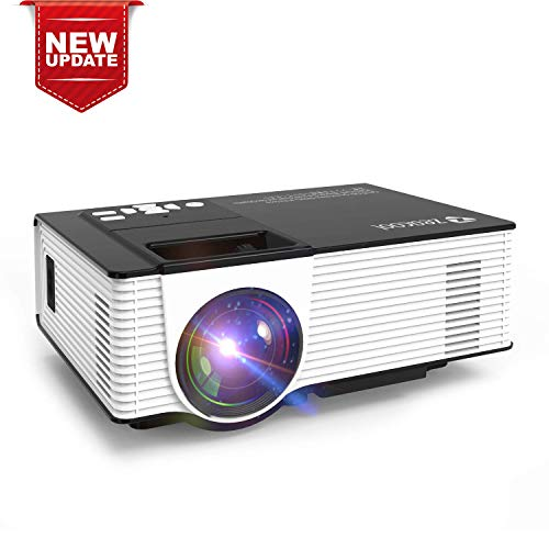 Mini WiFi Projector with 20000 Hours Lamp Life, T3 Multimedia Home Theater Movie Projector,Compatible with Full HD 1082P HDMI,VGA,USB,AV,Laptop,Smartphone