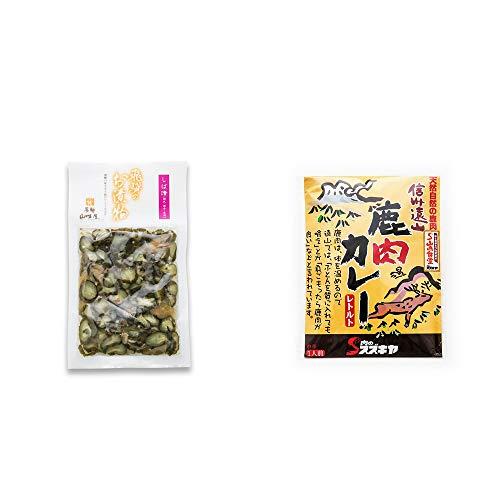 [2点セット] 飛騨山味屋 しば漬(120g)・信州遠山 鹿肉カレー 中辛 (1食分)