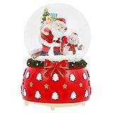 SOLUSTRE Globos de Nieve de Navidad Santa Claus Muñeco de Nieve Globos de Nieve...