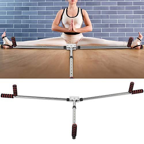 Weikeya Estirador de piernas, múltiples artes de yoga, flexibilidad, material de acero inoxidable y esponja Eva 106 cm (negro)