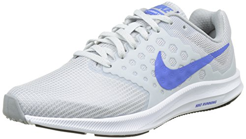 Nike Women's Downshifter 7 Running Shoes, Grey (Pure Platinum/Meduim Blue/Wolf Grey), 3.5 UK