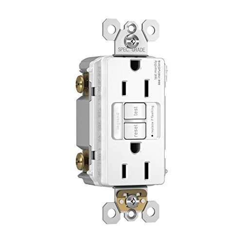 Legrand radiant Night Light, Self-Test GFCI Outlets, Safe for Kids, Tamper Resistant, White, 15 Amp, 1597NTLTRWCCD4