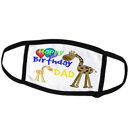 Promini Monatsmaske - RinaPiro - Lustige Zitate - Happy Birthday Dad - Giraffe - Luftballons Kinder Zitate Spruch - Staubmaske Outdoor Schutzmaske