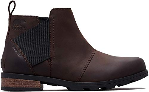 Sorel - Women's Emelie Chelsea Waterproof Ankle Boots, Cattail, 7.5 M US