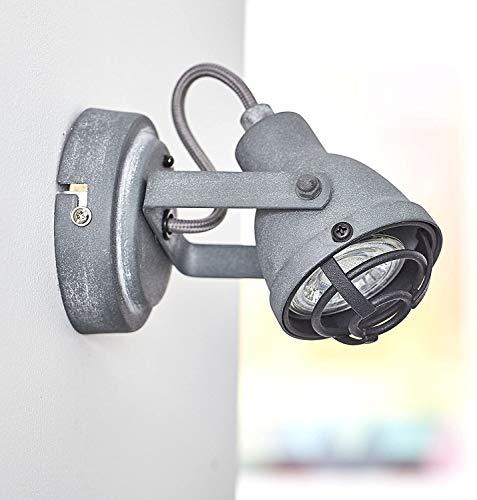Foco de pared LED vintage, con aspecto industrial usado, 1 bombilla LED GU10 de 4 W, incluye 350...