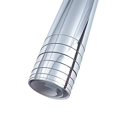 JKIOHO Hojas de espejo autoadhesivas, 0,2 mm de grosor, resistentes al agua, rollo de espejo flexible no de vidrio para...