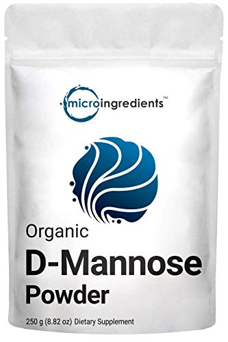 Organic D Mannose Powder, 8.8 Ounce (250 Grams), Pure Mannose Supplement, Powerfully Support Urinary Tract Cleanse and Bladder Health, Premium Mannose for Women and Men, No GMOs and Vegan Friendly