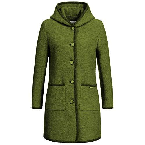 GIESSWEIN Damenmantel INES - Jacke aus 100% Wolle, atmungsaktiver Walk Mantel, Mantel mit Kapuze, Wolljacke mit Knöpfen, Walkjacke