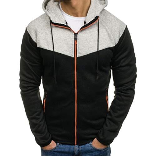Men's Hooded Jacket Outdoor Hoodied Sweatshirt Classic Casual Lightweight Hoodie Jackets Sports Fitness Zip Spring Stylish Basic Jacket Winter Autumn Sweatshirt Tops XL
