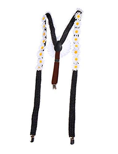 Orlob Fasching Hosenträger mit Blumen - Magariten