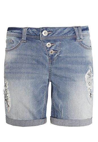 Rock Angel Damen Bermuda mit Pailletten I Kurze Hose I Jeans-Shorts in...