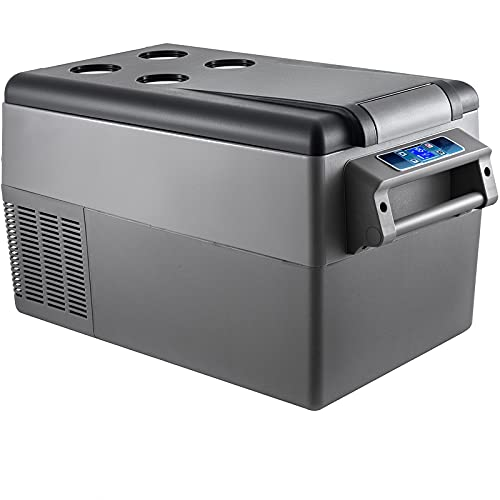 VEVOR Nevera Termoeléctrica Portátil 35 L Nevera de Viaje para Coche Nevera Portátil Eléctrica de Viaje para Coche Mini Refrigerador para Coche Mini Nevera para Bebidas con LCD