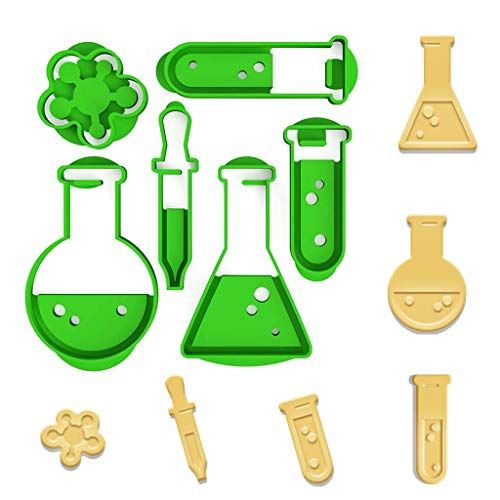 3DREAMS Keksausstecher Nerd Chemie Architektur Medizin Uni Made in Germany aus Bio Kunststoff inkl 2 Rezepte (Chemie)