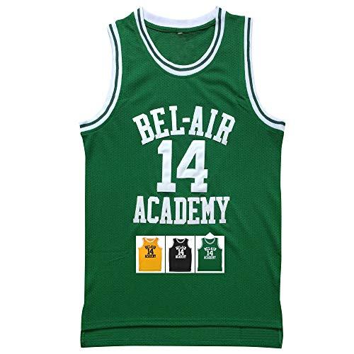 Eway Jersey #14 Basketball Jerseys S-XXXL(Green, L)