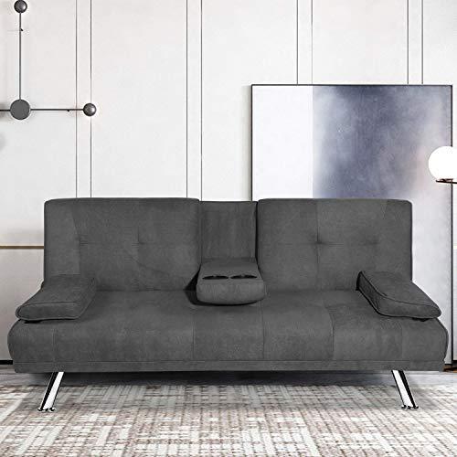 MOOSENG Futon Sofa Bed, Fold Up & Down Modern Recliner...