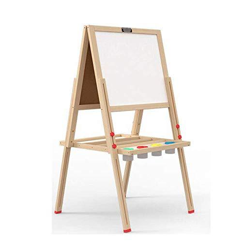 子供の製図板子供の木製の磁気製図板両面イーゼル足場作業無垢材タブレット40 * 34cm学習教育活動玩具