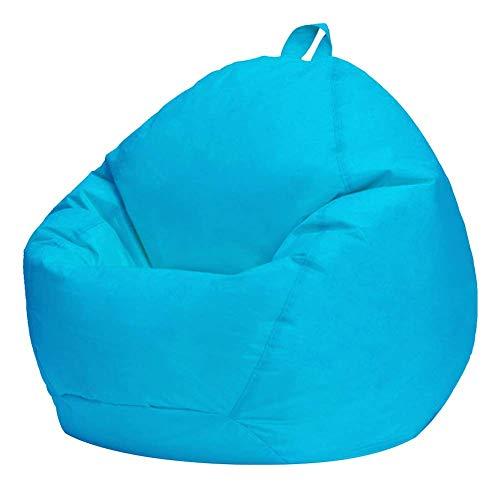 Amusingtao Sitzsack Abdeckung Möbel Sofa Innen Weich Schlafzimmer Sofa Oxford Stoff Heim Erwachsene Kinder Faul Lounger Nordischer Stil Leben Om Ohne Füller (Rot) - Blau, Free Size
