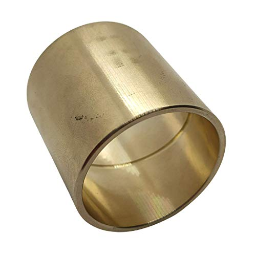 Gleitlagerbuchse 25mm x 30mm x 30mm | Gleitlager aus Bronze mit Schmiernut | Bronze-Gleitlager 25x30x30 | ZINNBRONZE | 1 Stück
