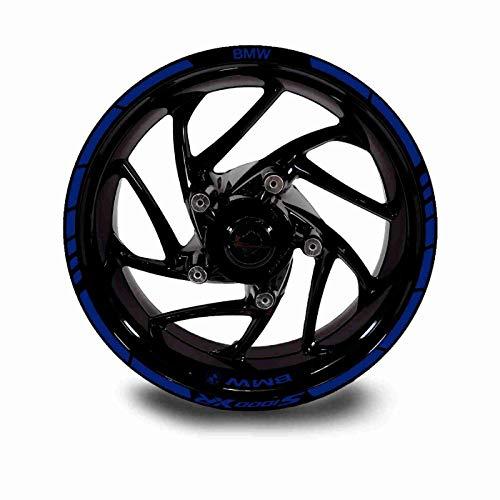 Juego Completo Pegatinas LLANTA para BMW S1000XR ADESHIVOS Logos + Marca Ambos Lados (Azul Cobalto)