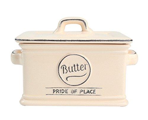 T&G Pride of Place Butterdose aus Keramik Vintage Charme 13.5 x 9.5 x 10 cm